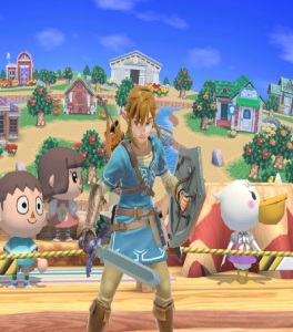 Smashville Stage super Smash Bros ultimate Nintendo Switch animal crossing