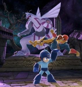 Mega Man vs captain Falcon Spear Pillar stage super Smash Bros ultimate Nintendo Switch Pokémon diamond and pearl