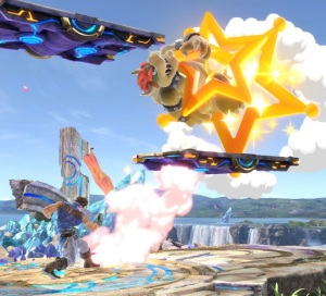 Bowser going through Super Launch Star super Smash Bros ultimate Nintendo Switch