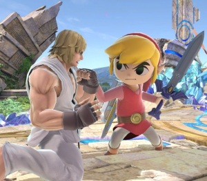 Toon Link vs Ken super Smash Bros ultimate Nintendo Switch