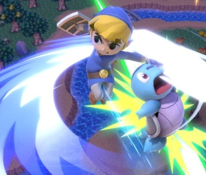 Toon Link vs squirtle super Smash Bros ultimate Nintendo Switch