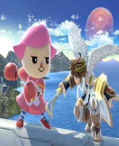 Villager using boxing gloves on Pit super Smash Bros ultimate Nintendo Switch animal crossing