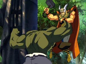 Thor losing against hulk Hulk Vs Thor
