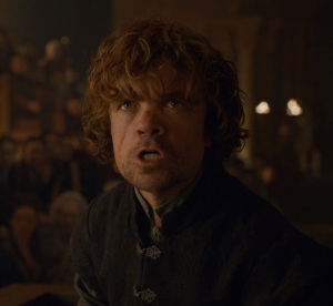 Tyrion Lannister on trial for death of king joffrey game of Thrones