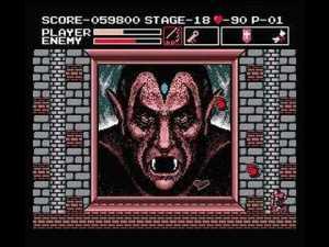 Dracula final boss vampire Killer Konami