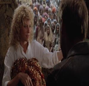 Willie Scott in India Indiana Jones and the temple of doom
