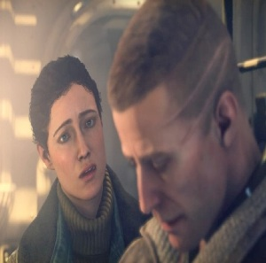 William Blazkowicz and his pregnant wife Wolfenstein II: The New Colossus