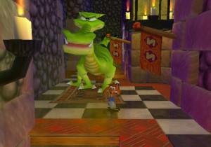 Dragon boss Crash Bandicoot: Wrath of Cortex PS2