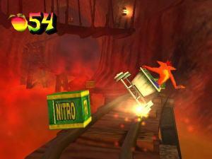 Railcar level Crash Bandicoot: Wrath of Cortex PS2