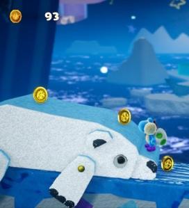 Yoshi's Crafted World polar bear Nintendo Switch