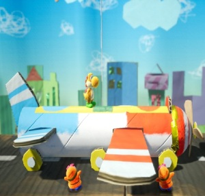 Flying an airplane Yoshi's Crafted World Nintendo Switch