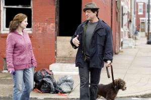 Rocky walking his dog Rocky Balboa movie