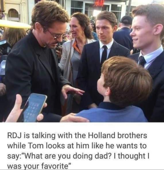 Memes Robert Downey Jr Spider-Man tom holland