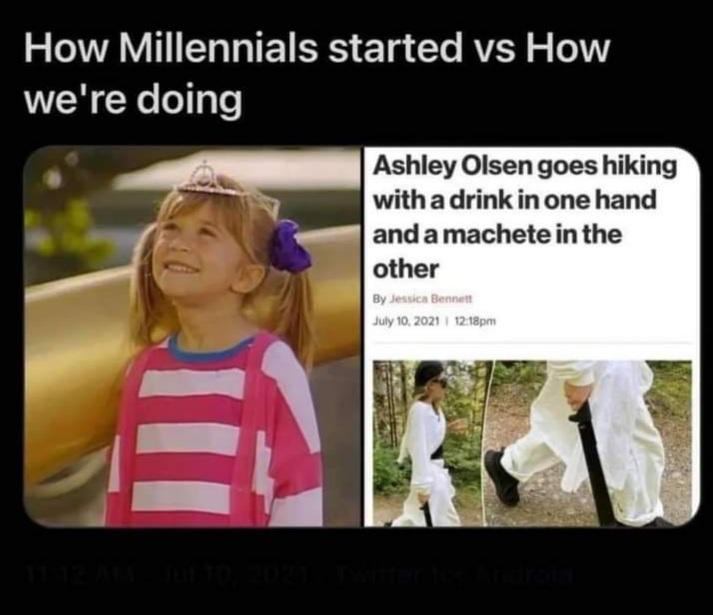 Memes Ashley Olsen millennials