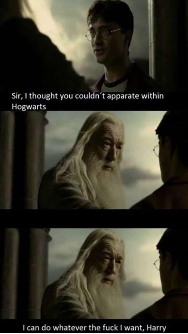 Memes albus Dumbledore privileges