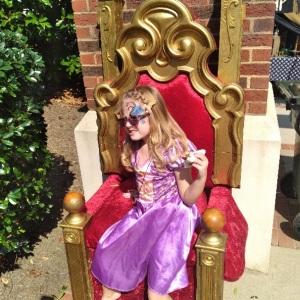 Princess on throne Upstate Renaissance Faire Greer South Carolina