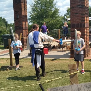 Fight a knight Upstate Renaissance Faire Greer South Carolina