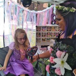 Kids face painting Upstate Renaissance Faire Greer South Carolina