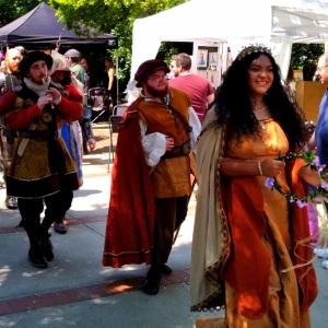 Medieval dress queen Upstate Renaissance Faire Greer South Carolina