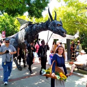 Giant dragon Upstate Renaissance Faire Greer South Carolina