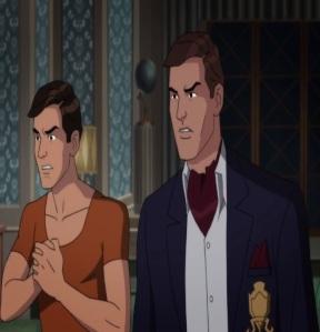 Bruce Wayne and dick Grayson Batman: Return of the Caped Crusaders