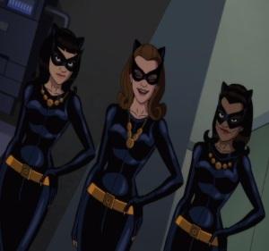 All three Catwoman Batman vs. Two-Face