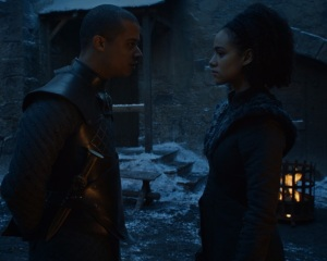 Missandei and greyworm game of Thrones HBO