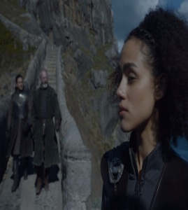 Davos flirting with Missandei game of Thrones HBO