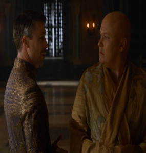 The spider and little finger Game of Thrones HBO
