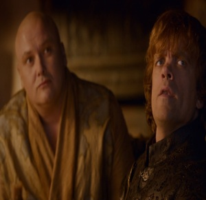 Varys and Tyrion Lannister King's Landing Game of Thrones HBO