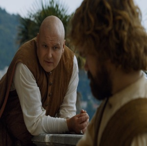 Varys and Tyrion Lannister in essos Game of Thrones HBO