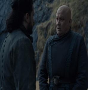 Varys and Jon Snow dragonstone Island Game of Thrones HBO