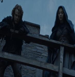 Theon Greyjoy rescues Sansa Stark Game of Thrones HBO