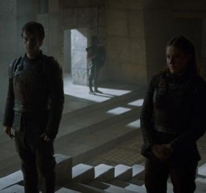 Theon Greyjoy meets Daenerys Targaryen Game of Thrones HBO