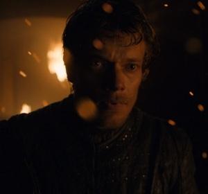 Theon Greyjoy runs away from Euron Game of Thrones HBO