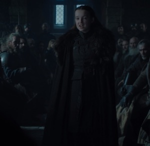 Lyanna Mormont pleads with Jon Snow Game of Thrones HBO