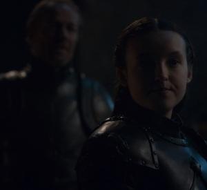 Lyanna Mormont talking with Jorah Game of Thrones HBO