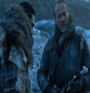 Jorah Mormont holding longclaw family sword Game of Thrones HBO
