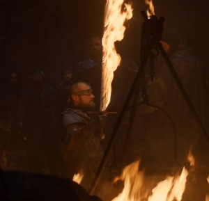 Beric Dondarrion flaming sword game of Thrones HBO