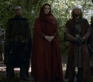 Beric Dondarrion and  Melisandre game of Thrones HBO