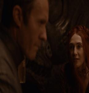 Melisandre seduces Stannis Baratheon game of Thrones HBO