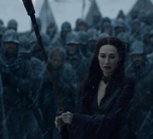 Melisandre burning Shireen game of Thrones HBO