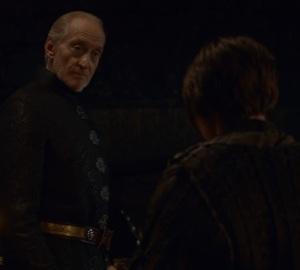 Arya Stark meeting tywin Lannister game of Thrones HBO