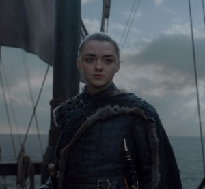 Arya Stark sailing into the unknown game of Thrones HBO
