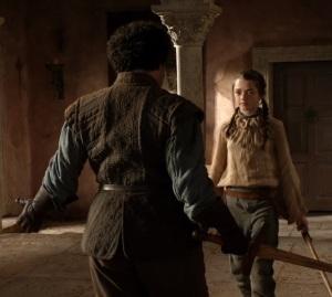 Arya Stark sword training game of Thrones HBO