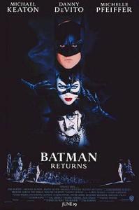 Batman Returns movie poster Michael Keaton Danny DeVito Michelle Pfeiffer