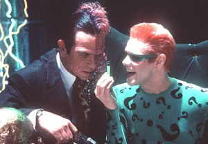 Riddler and Two-Face Batman Forever movie Tommy lee Jones