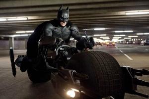 Batman on motorcycle The Dark Knight Rises Christian bale
