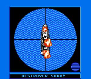 Destroyer sunk Battleship NES