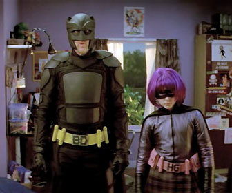 Big Daddy and hit girl Kick-ass 2010 movie